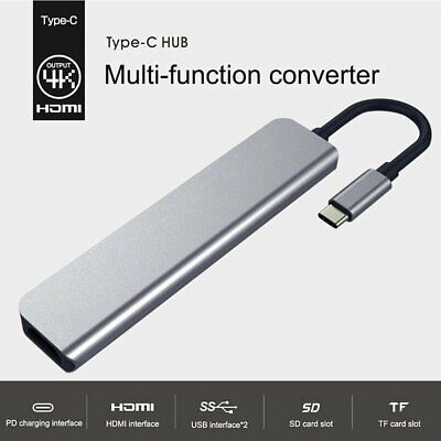 AU30.98 • Buy USB C HUB Docking Station 7-in-1 Type C To USB 3.0 HDMI Adapter For Macbook Pro