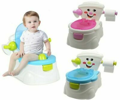 2in1 Portable Baby Toilet Seat Kids Child Toddler Potty Training Chair Boy Girl • 18.99£