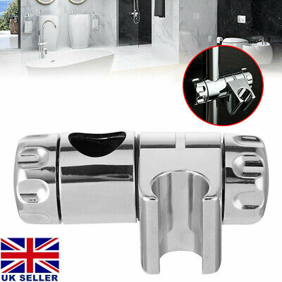 Chrome Replacement Shower Head Holder Bracket Slider Rail Kit Clamp Adjustable • 6.72£