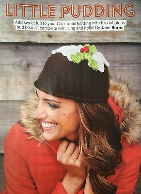 KNITTING PATTERN Ladies Christmas Pudding Hat Topped Icing And Holly King Cole • 3.15£