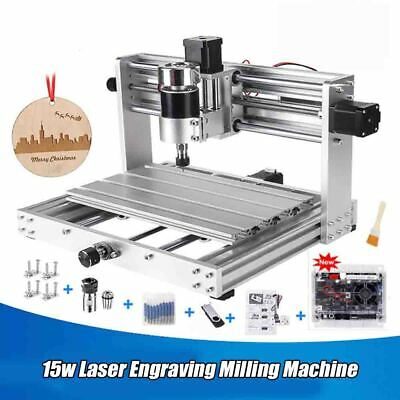 15w Laser Engraving Milling Machine 3 Axis Pcb 200W SpindleWith ER11 DIY Woods • 351.33£
