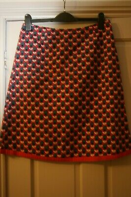 Boden Cotton Lined Skirt Size 12 • 4.99£