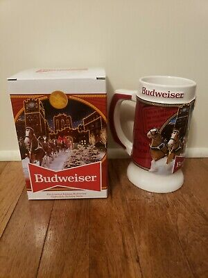"$ CDN26.17 • Buy 2020 Budweiser Holiday Stein Beer Mug 41st Anniversary Edition ""Brewery Lights"""