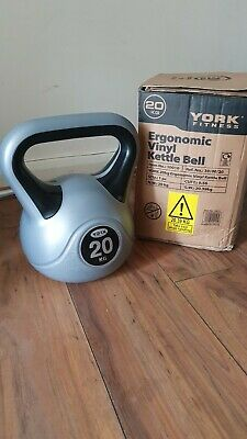 Two 20kg York Kettlebells Vinyl Weight Training Gym Exercise Workout Fitness • 40£