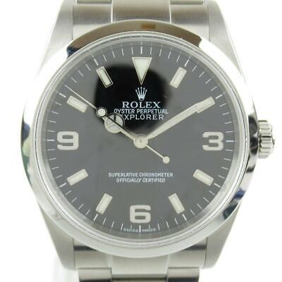 $ CDN7404.99 • Buy Auth ROLEX Explorer 1 Watch Mens 114270 Automatic Black Stainless Steel Used