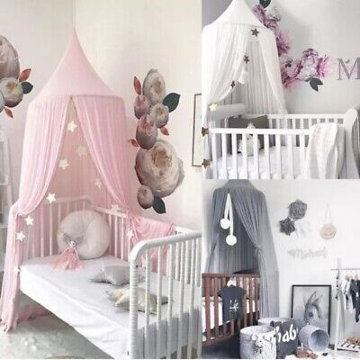 Romantic Kids Baby Bed Canopy Bedcover Mosquito Net Curtain Bedding Dome Tent • 14.99£