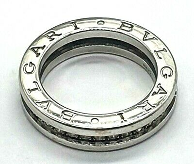 AU8600 • Buy BGB - 18ct White Gold Diamond Ladies Bvlgari Designer Ring B Zero Size J-49