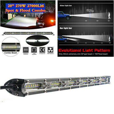 $ CDN35.26 • Buy 270W 20  Slim LED Work Light Bar Flood Spot Beam Car Off-road Driving Fog Lamp