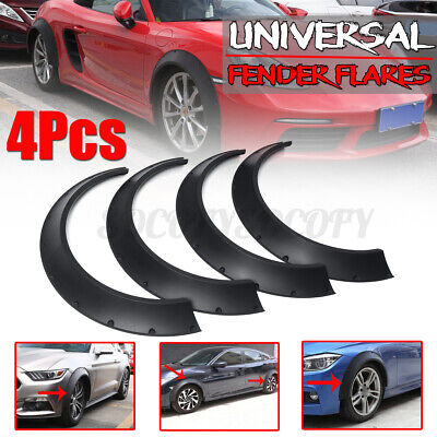$60.76 • Buy 4x 3.5'' Universal Flexible Fender Flares Extra Wide Body Kit Wheel Arches Cover