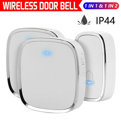Portable Wireless Door Bell Waterproof Wall Plug-in Chime Remote 36 Tunes Home  • 8.39£