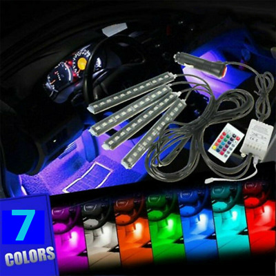 $12.31 • Buy Parts Accessories RGB LED Lights Car Interior Floor Decor Strip Lamps Atmosphere