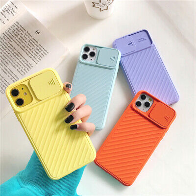 AU9.99 • Buy IPhone 12 Pro Max 11Pro XR X Case Rubber Slide Lens Camera Protection Slim Cover