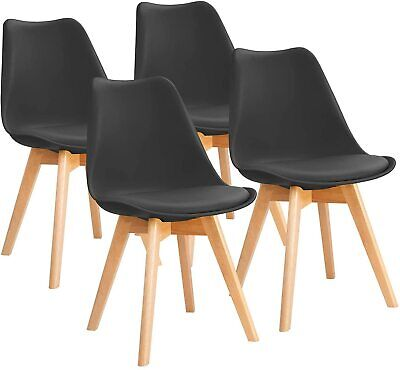 AU115.99 • Buy Set Of 4 Mid Century Dining Chairs Modern DSW Armless Side Chair Wood Legs