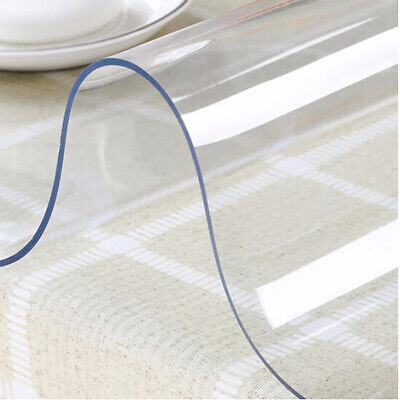 £15.95 • Buy Clear PVC Vinyl Table Protector 2mm Thick Waterproof Table Desk Cover Tablecloth
