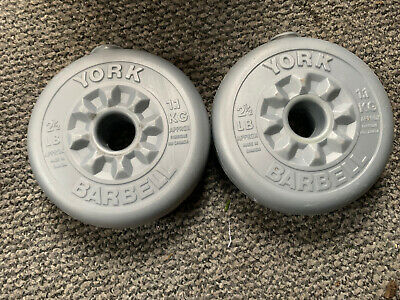 2 X York 1.1kg Vinyl Weight Plates. Great Condition • 16£
