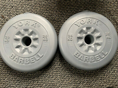 2 X York 2.5kg Vinyl Weight Plates. Great Condition • 25£