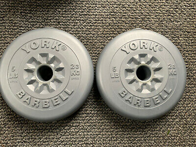 2 X York 2.3kg Vinyl Weight Plates. Great Condition • 24£