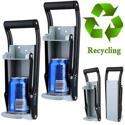£7.79 • Buy 16oz Beer Tin Can Crusher Large 500ml Wall Mounted Tool Bottle Recycling