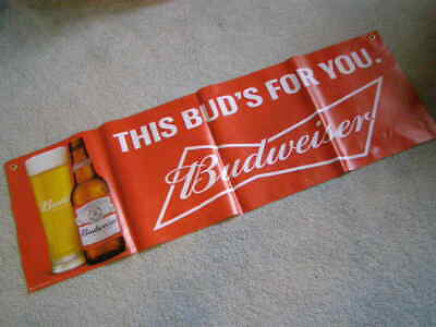 $ CDN36.88 • Buy NEW BUDWEISER BANNER SIGN BEER PENNANTS  Bud's For You