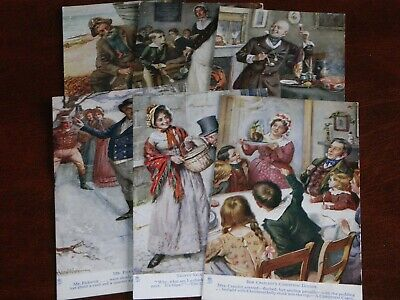 £22.50 • Buy Original Set Of Six Harold Copping Signed Tuck Postcards - Dickens, Series 9852.