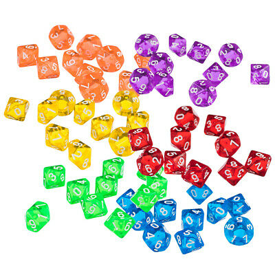 AU16.25 • Buy 60pcs Ten Sided Dice D10 Playing For   D&D TRPG Board Games
