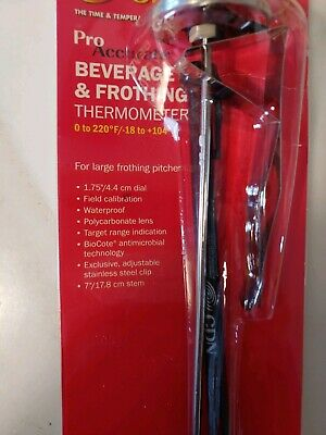 $12.95 • Buy CDN Pro Accurate Thermometer Beverage &  Frothing 0 To 220F IRTL220