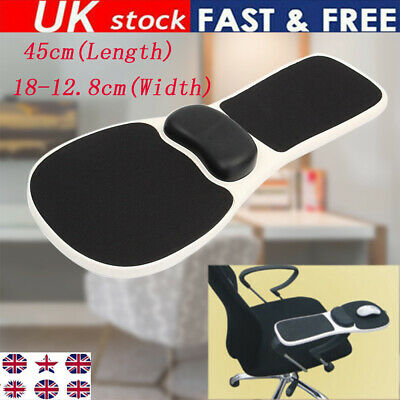 Computer Elbow Arm Rest Support Chair Desk Armrest Home Office Wrist Mouse Pad • 19.99£