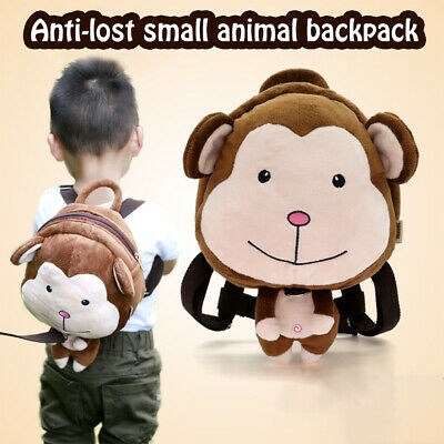 Toddler Boys Girls Backpack Cartoon Safety Anti-Lost Strap Rucksack With Reins • 15.59£