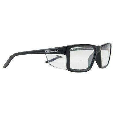 AU16.50 • Buy Pacific Bifocal +2.50 Safety Glasses Clear Lens AS/NZS 1337.1 Black