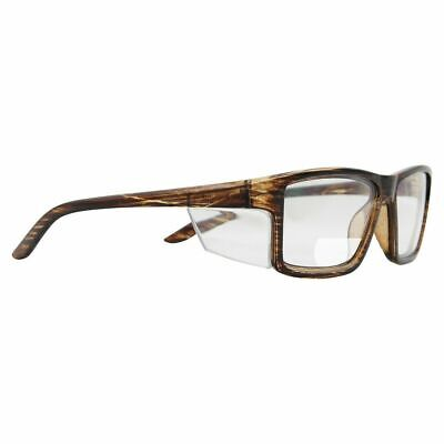 AU16.50 • Buy Pacific Bifocal +1.50 Safety Glasses Clear Lens AS/NZS 1337.1 Wood Grain