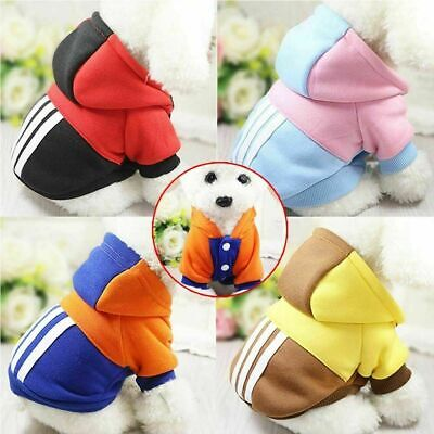 Christmas Winter Small Dog Pet Cat Puppy Coats Clothes Hoodie Warm Jacket Jumper • 3.99£