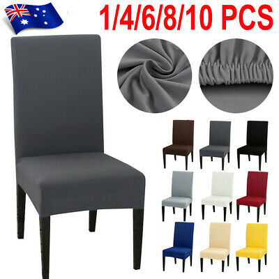 AU18.99 • Buy UP 10 Pcs Dining Chair Cover Stretch Removable Slipcover Washable Banquet Event