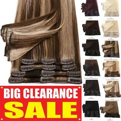 Highlight Clip In Weft Full Head Russian Remy Human Hair Extensions Ombre • 11.50£