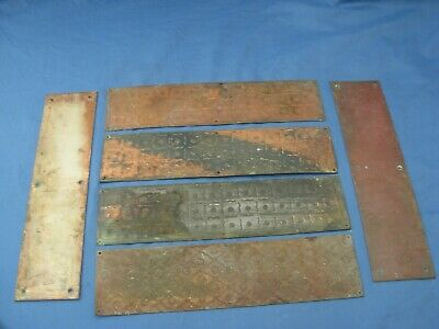 Finger Plates Victorian X 6 With 3 Copper Plates Faraday & Son London And Brass  • 45£
