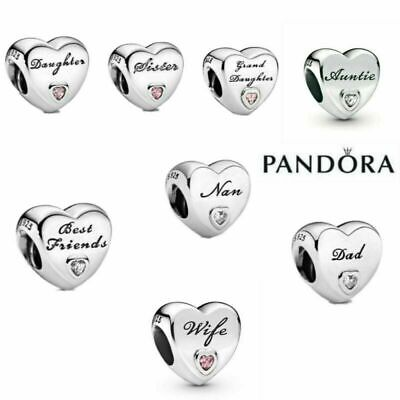 Genuine Silver Pandora Heart Charm ALE S925 & With Gift Box Best Christmas Gifts • 12.49£