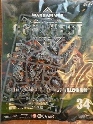 Warhammer 40k Conquest Magazine Issue 34  New Sealed With Figures • 17.99£