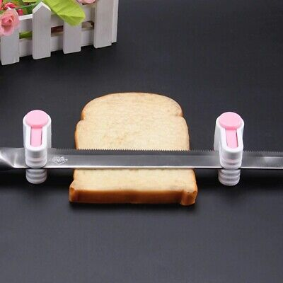 £3.25 • Buy 2Pcs Bread Slicer Fixator Cutter High Quality Tools Cut Kitchen Cake 5 Layers