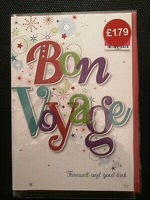 £1.79 • Buy  Bon Voyage - Farewell And Good Luck  Card 👍👍👍👍👍👍👍👍