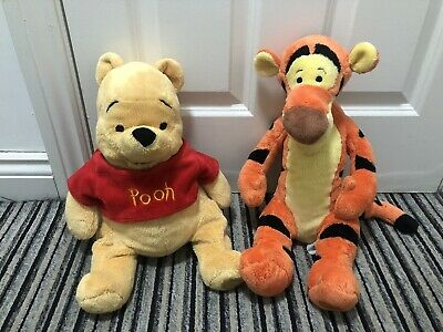 """Disney Store Winnie The Pooh And Tigger 16"""" Soft Toy Plush  • 16.99£"""
