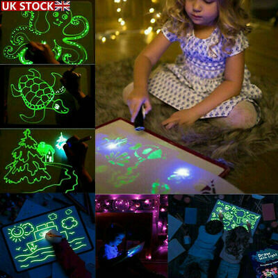 Kids Draw With Light Magic Drawing Painting Board Educational Developing Toy Fun • 10.88£