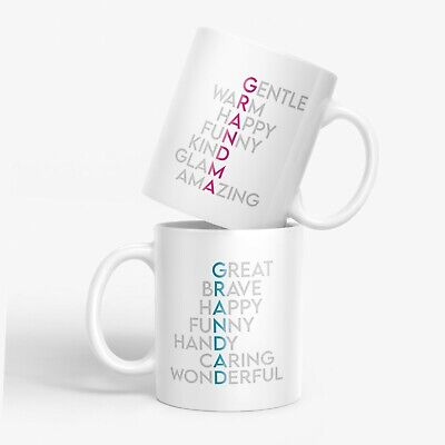 Mug Set Grandma Grandad Grandparents Mugs Gifts Birthday Great Novelty MBH1 • 14.95£