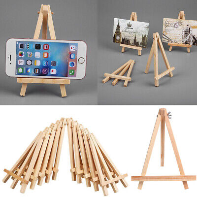 6PCS Small Mini Wooden Easel Stand/15cm Table Desktop Wedding Photo Display AAUK • 7.79£