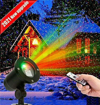 Christmas Laser R&G LED Projector Light Moving Outdoor Landscape Stage Xmas Lamp • 16.99£
