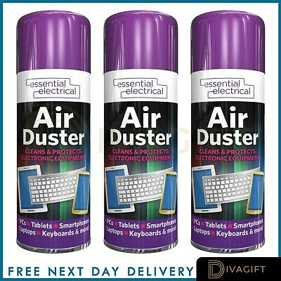 200ml 400ml Compressed Air Can Duster Spray Protects Cleaner Laptops Keyboards • 5.49£