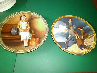 2 Norman Rockwell Rediscovered Women Knowles Ltd Edn Plates Perfect Condition • 17.50£
