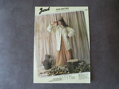 Knitting Pattern Jarol Aran Long Cardigan J535  • 1.25£