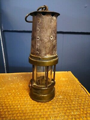 Miners Lamp Pattersons 1771 Full Size Brass  - Genuine Work Worn Article • 21£