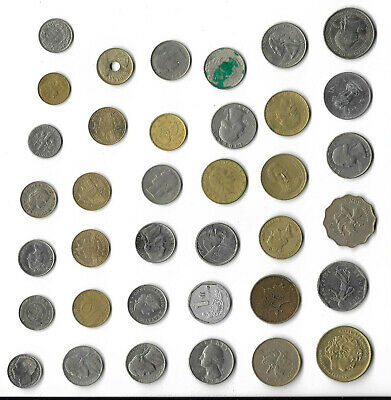 Coins Job Lot Assorted Foreign Worldwide Circulated Uncleaned Various Countries  • 11.97£