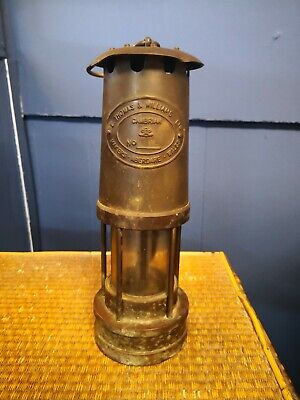 Miners Lamp, E. Thomas & Williams Ltd, Cambrian, Aberdare Wales, Brass No 5196 • 30£