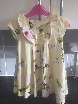 Ted Baker Girls 9-12 Months Yellow Harmony Dress Immaculate Condition • 7£